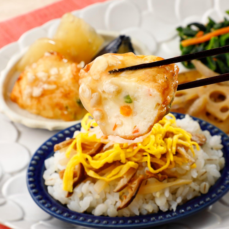 ウーディッシュ 五穀のちらし寿司とふんわりしんじょ