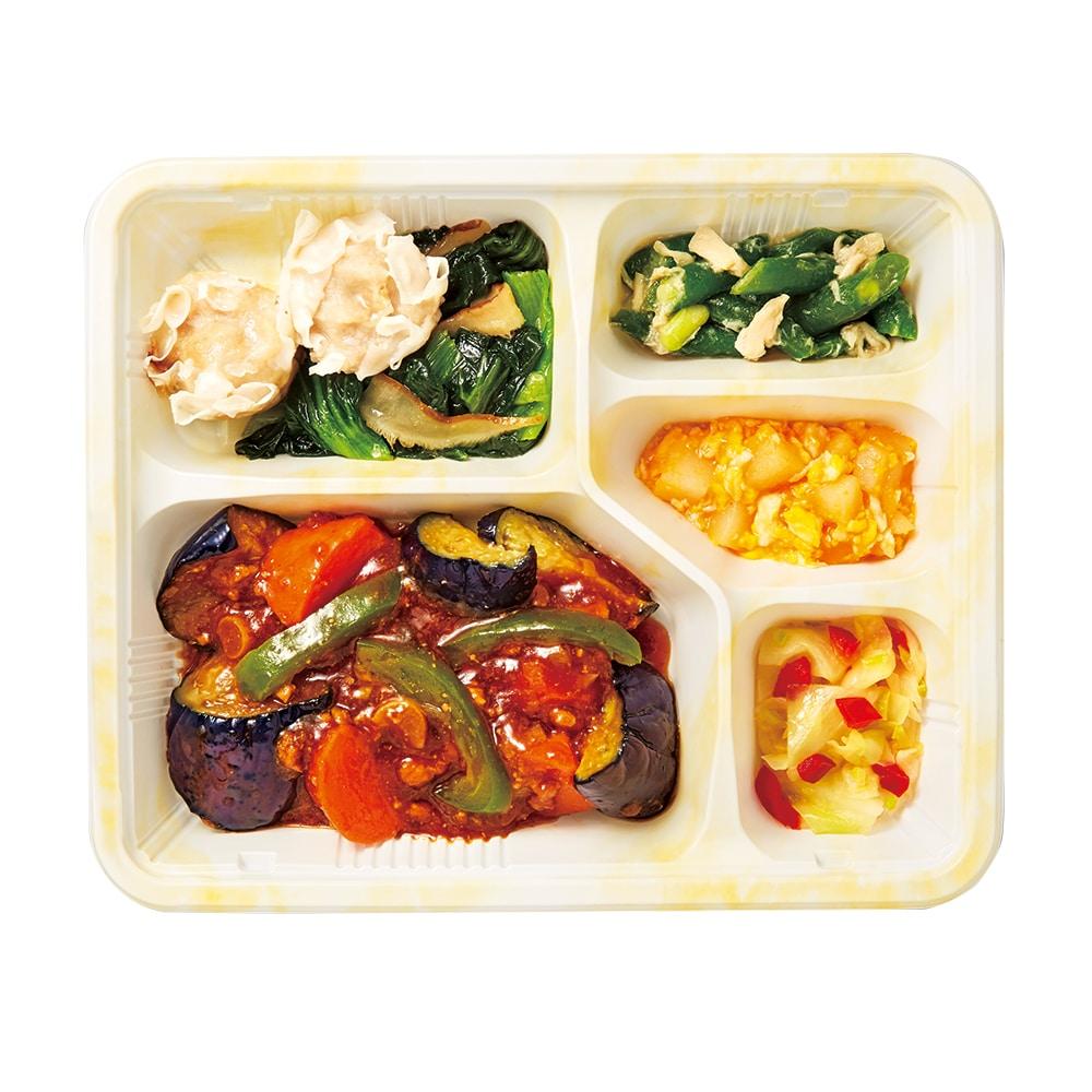気くばり御膳 彩り野菜の麻婆茄子セット