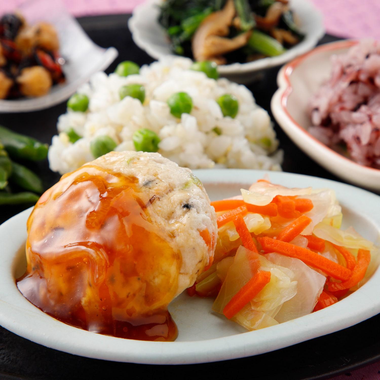 ウーディッシュ 豆腐ハンバーグ 香る柚子あん