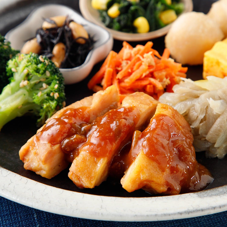 気くばり御膳 鶏肉の味噌焼きセット