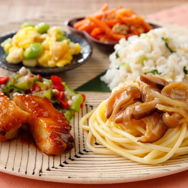 ウーディッシュ 鶏肉の味噌だれと和風きのこパスタ