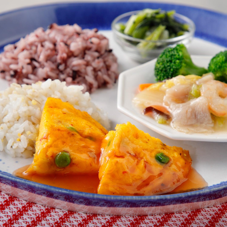 ウーディッシュ 天津飯と八宝菜