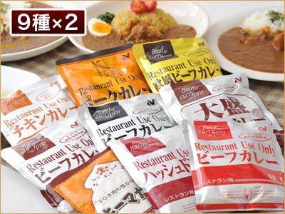 レストランユース カレーバラエティセット18食セット(9種*各2入)