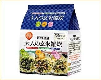 ヘルシーキユーピー 大人の玄米雑炊6食セット(3種類*2食入)